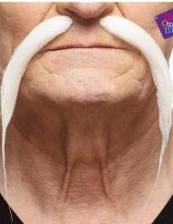 Witte Chinese snor voor volwassenen