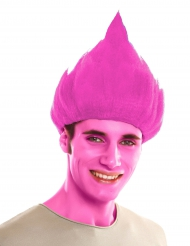 Roze troll pruik voor volwassenen