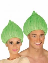 Groene troll pruik voor volwassenen