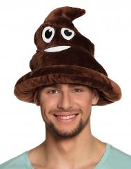 Poep emoticon hoed voor volwassenen