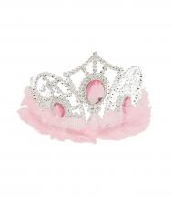 Prinses tiara met roze tule
