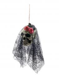 Doodskop met sluier ophangdecoratie