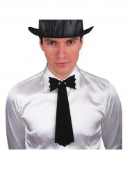 Zwarte vleermuis stropdas voor mannen