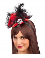 Rode piraten mini hoed voor vrouwen
