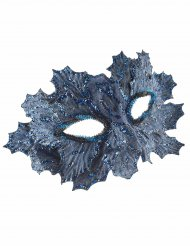 Blauw masker met blauwe glitter blaadjes voor vrouwen