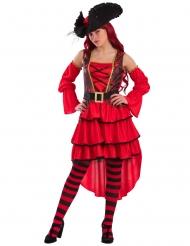 Rode zeepiraat kostuum voor vrouwen