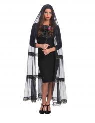 Lange zwarte sluier voor vrouwen