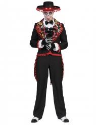 Romantisch Dia de los Muertos kostuum mannen