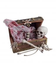 Piraten schatkist met skelet