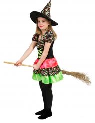 Heksen kostuum met kleurrijke stippen voor meisjes