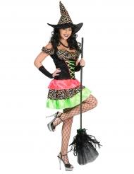 Kleurrijk heksen kostuum voor dames