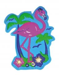 Roze flamingo muurdecoratie