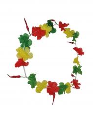 Groene, gele en rode Hawaii ketting