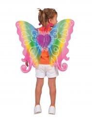 Veelkleurige hart vleugels