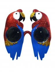 Papegaai zonnebril met glitters voor volwassenen