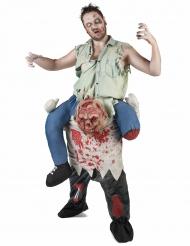 Zombie Carry Me kostuum voor volwassenen