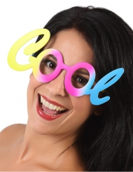 Pastelkleurige Cool bril voor volwassenen