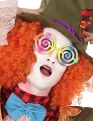 Veelkleurige spiralen bril voor volwassenen