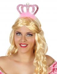 Roze prinses tiara voor volwassenen