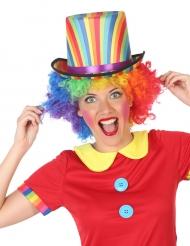 Gestreepte veelkleurige hoge hoed voor volwassenen