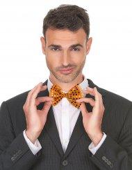 Oranje strikje met glitters voor volwassenen