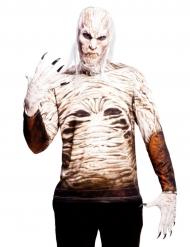 Witte zombie t-shirt voor volwassenen