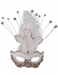 Luxe wit glitter masker voor vrouwen