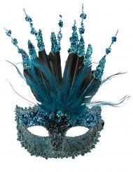 Luxe blauw glitter masker voor vrouwen