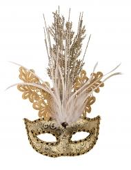 Luxe goudkleurig oogmasker voor vrouwen
