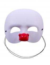 Wit clown half masker voor kinderen