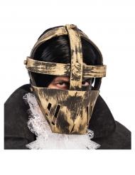 Goudkleurig gevangene masker voor volwassenen