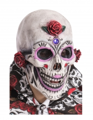 Dia de los Muertos geschminkt masker voor volwassenen