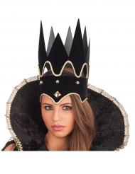Zwarte koningin kroon voor volwassenen