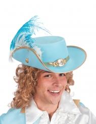 Blauwe musketier hoed voor volwassenen
