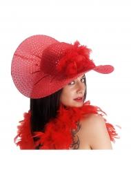 Elegante rode hoed voor vrouwen