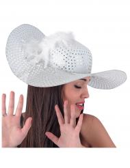 Grote zilverkleurige hoed voor vrouwen
