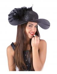 Elegante zwarte hoed voor vrouwen
