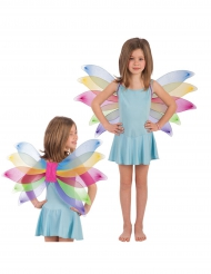 Veelkleurige vlinder vleugels voor meisjes