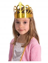 6 goudkleurige papieren kroontjes