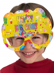 6 papieren Happy Birthday maskers