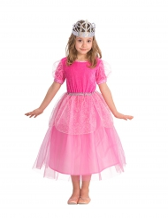 Roze prinsessen jurk met tule voor meisjes