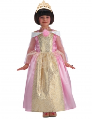 Goudkleurig en roze prinses kostuum voor meisjes
