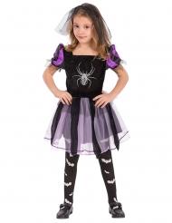Heksen kostuum met spin voor meisjes