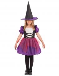 Paars heksen kostuum met tule voor meisjes
