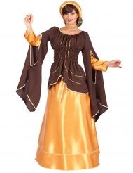 Bruin en goudkleurig keizerin kostuum voor vrouwen