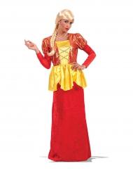 Rood en goudkleurig keizerin kostuum voor vrouwen