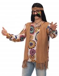 Bruin hippie kostuum voor mannen