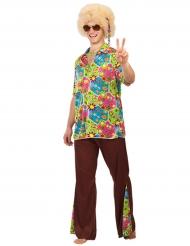 Hippie flower power kostuum voor mannen