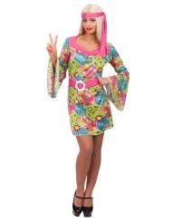 Bloemen hippie kostuum voor vrouwen