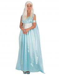 Blauw drakenprinses kostuum voor vrouwen